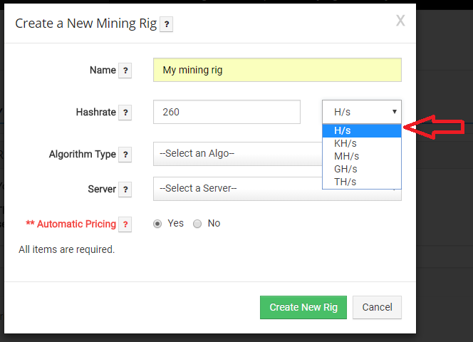 Mining Rig Rentals | Helpcenter